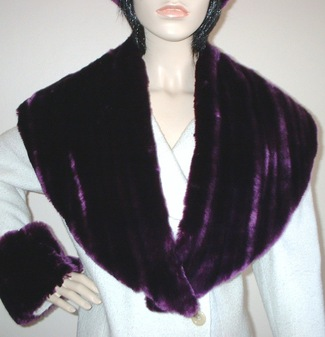 SALE Tissavel Indulgence Faux Fur Shawl Collar