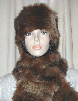 Russian Sable Faux Fur Hat