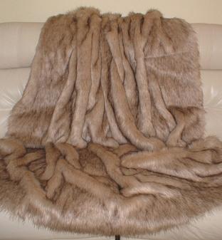 Fawn Musquash Faux Fur Per Meter