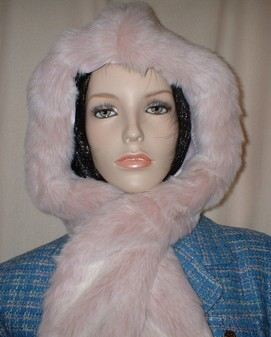 Pink Champagne Faux Fur Hoodie