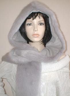 Silver Mink Faux Fur Hoodie