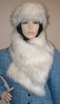 Alaska Faux Fur Vintage Asymmetric Scarf