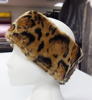 Jaguar Faux Fur Headband