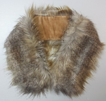 Coyote Faux Fur Neck Scarf
