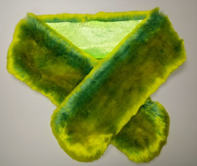SALE Pistachio Flash Faux Fur Scarf