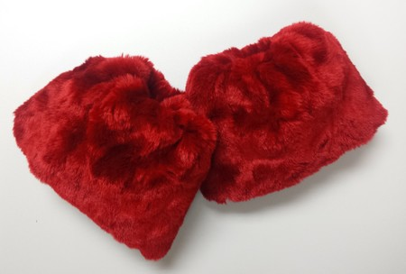 SALE Scarlet Crush Faux Fur Cuffs