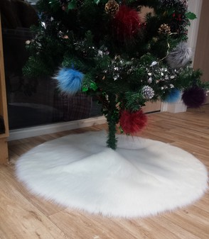 Polar Bear Faux Fur Tree Skirt