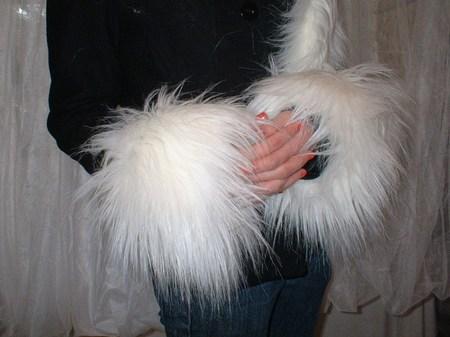 Polar Bear Faux Fur Cuffs