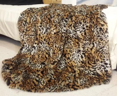 Jungle Cat Faux Fur Per Metre