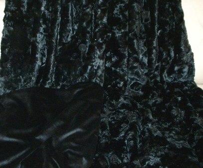 SALE Lap Throw Black Astra & Black Velboa