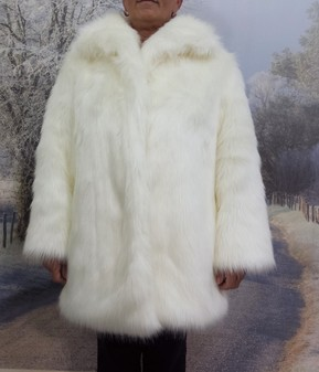Polar Bear Faux Fur Jacket