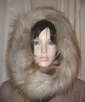 Coyote Faux Fur Cowl/Neck Warmer