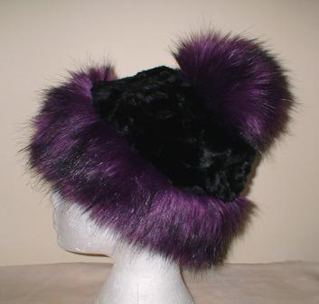 Royal Purple Faux Fur Bobble Hat
