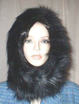 Black Bear Faux Fur Cowl/Neck Warmer