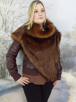 Red Fox Faux Fur Huntress Cowl