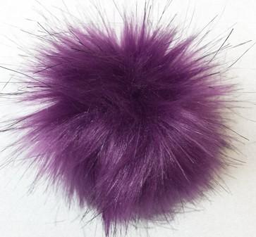 Royal Purple Faux Fur Pom Pom