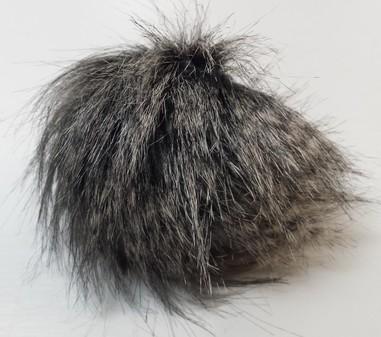Grey Wolf Faux Fur Pom Pom