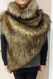 Simba Faux Fur Huntress Cowl