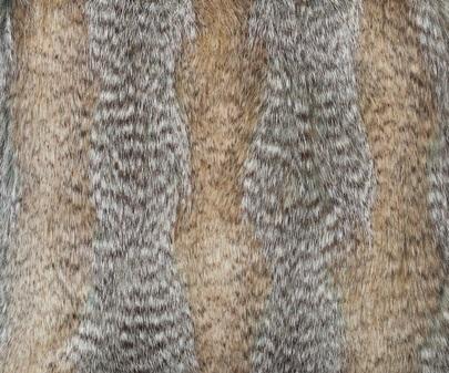 Desert Coyote Faux Fur Both Side Cushion 41x41cm