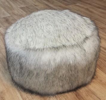 Alaska Faux Fur Pouffes