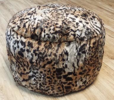 Jungle Cat Faux Fur Pouffes