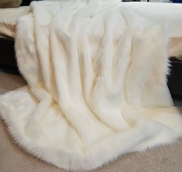 Polar Bear Faux Fur Throw