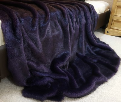 Amethyst Mink Faux Fur Throws