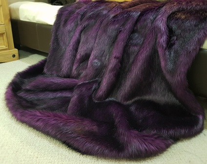 Royal Purple Faux Fur Throw