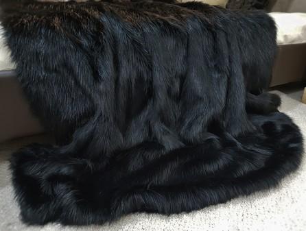 Black Bear Faux Fur Throw