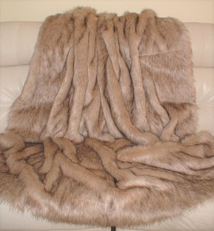 Fawn Musquash Faux Fur Throw