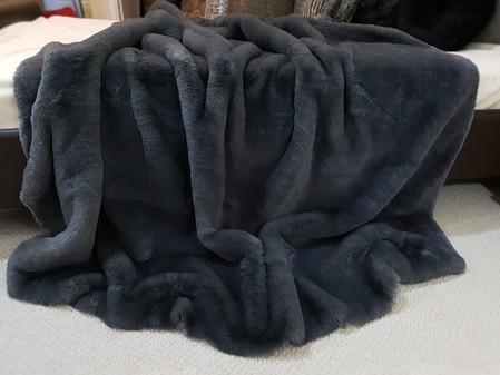 Slate Grey Faux Fur Per Meter