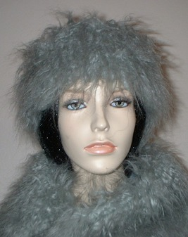 Mongolian Grey Faux Fur Headband