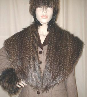 Kodiac Bear Faux Fur Shawl Collar