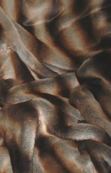 Golden Brown Chinchilla Faux Fur SECONDS Per Meter