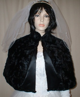 Black Astra Faux Fur Cape