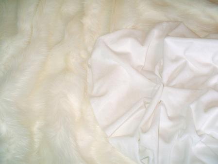 Polar Bear Faux Fur Throw