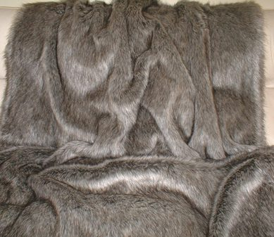 Timber Wolf Faux Fur SECONDS Per Meter
