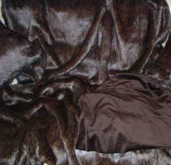Brown Bear Faux Fur Throw