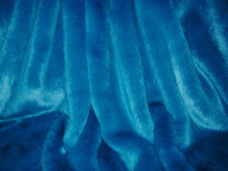 Azure Blue Faux Fur per meter