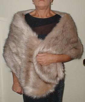Fawn Musquash Faux Fur Stole
