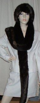 Mahogany Mink Faux Fur Super Long Scarf