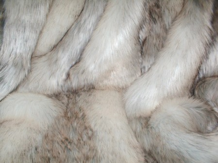 Snow Wolf Faux Fur Swatch