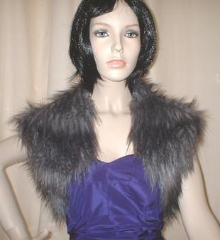 Siberian Wolf Faux Fur Shrug