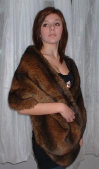Sable Faux Fur Stole