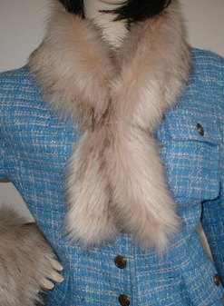 Fawn Musquash Faux Fur Slim Collar/Headband