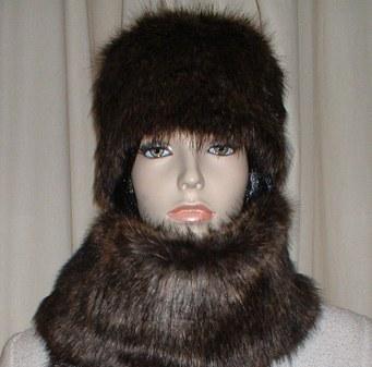 Brown Bear Faux Fur Hat