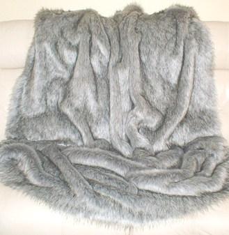 Silver Musquash Faux Fur Per Meter