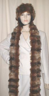 Russian Sable Faux Fur Super Long Scarf
