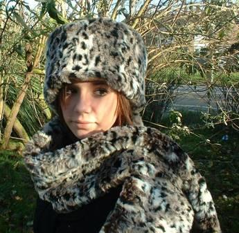 Wild Cat Faux Fur Scarf
