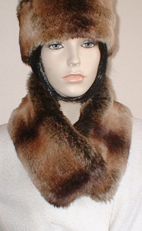 Madagascar Faux Fur Long Collar